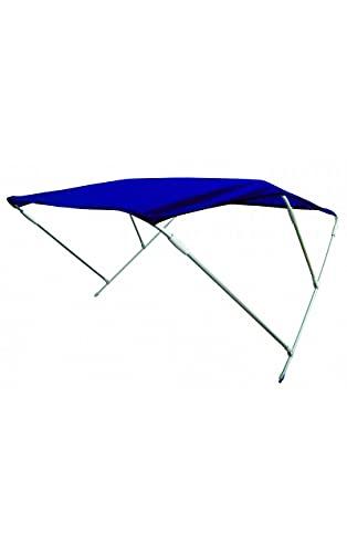 Shop SoftAir® Capottina Parasole Tendalino Pieghevole in Alluminio a 3 Archi per Barca Gommone Telo Resistente Blu Altezza 110 cm Larghezza 185 cm