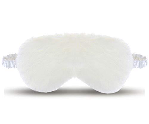 Dodheah Schlafmaske Frauen Herren Schlafmaske Seide Augenmaske Schlafbrille Plüsch Schlafmasken...