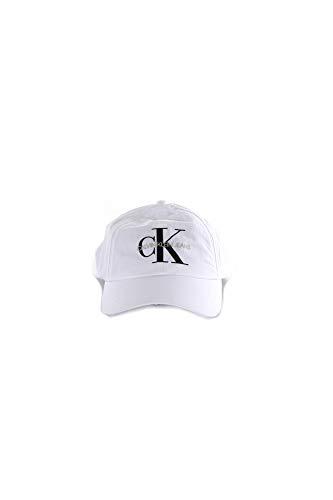 Calvin Klein Ckj Nylon Velcro Cap Gorra de béisbol, Blanco (Bright White...