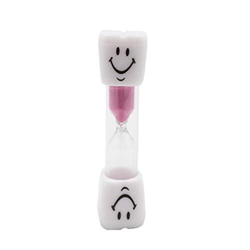 MILISTEN Sanduhr Sanduhr Uhr Lächeln Muster Zahnbürste Timer 3 Minuten für Spiele Klassenzimmer Home Office Küche Dekoration (Pink)