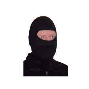 Commando Industries Balaclava « SWAT » Masque Cagoule De La Tempête Masque de Moto 1 Trou Couleur Noire ou Blanc - Noir