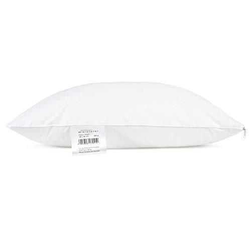 H&F Heimtextilien Kissen 50x50 cm | 300g Kissenfüllung 100% Polyester | Kopfkissen mit OekoTex Zertifikat | Bezug 100% Französische Mikrofaser | Allergiker geeignet