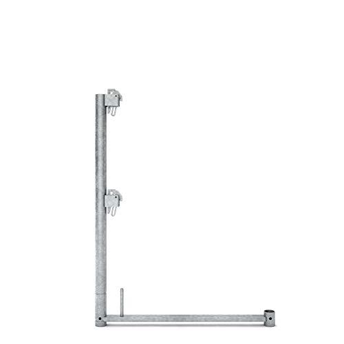 Geländerstütze Stahl L assco quadro 1,00m x,0,73m für Gerüst Gerüste Baugerüst Baugerüste