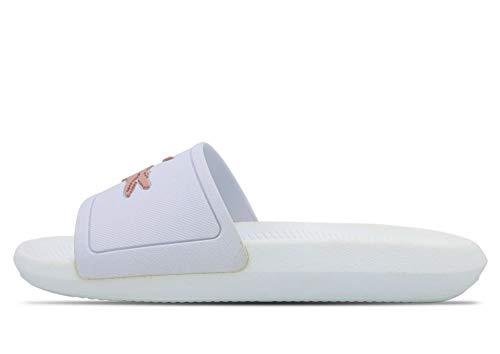 Lacoste Damen Croco Slide 119 3 Cfa Sandalen, Weiß (Wht/Lt Pnk 1y9), 37 EU