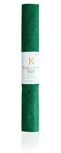 Kimberbell Embroidery Felt Sheet - Pine KDKB1238, 1PC, Size 12 in x18 in, Thickness 1.4 mm, Assorted Colors Available, Kimberbellishments, Premium Polyester, Iron-Friendly & Machine Washable