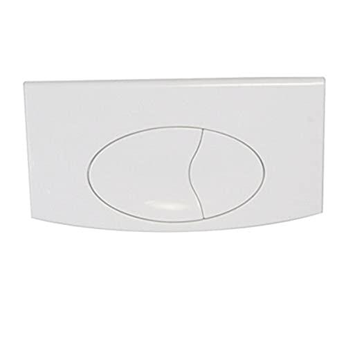 Regiplast 1650B Plaque de Commande Double Blanche pour réservoir bi Debit réf 650, Blanc