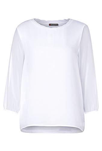 STREET ONE Damen Jacinda T-Shirt, White, 40