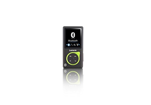 Lenco MP3-Player Xemio-768 - MP3-MP4-Player, 8 Gb Micro SD-Karte Inklusive Ohrstöpsel und Bluetooth- grün