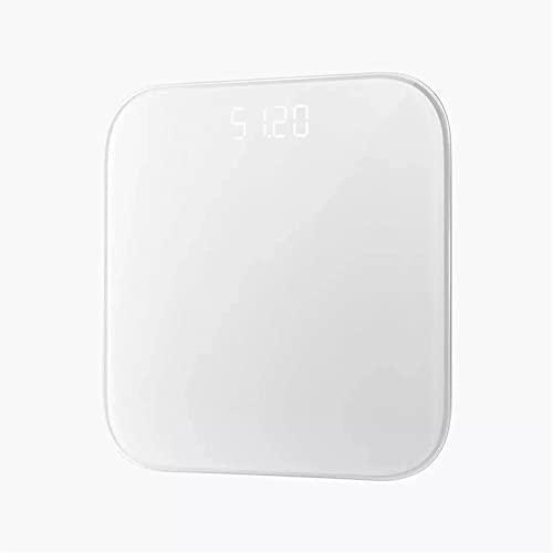 Goodvk Básculas de Grasa Corporal Inteligentes Escala De Grasa Corporal Bluetooth 5.0 App Escala De Peso Escala De Análisis Inteligente App Control Fácil de Configurar (Color : White, Size : 28x28cm)