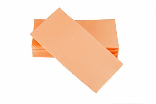 """Simulinen Colored Napkins - Decorative Cloth Like & Disposable, Dinner Napkins - Peach/Apricot - Soft, Absorbent & Durable - 16""""x16"""" - Great for Any Occasion! - Box of 50"""