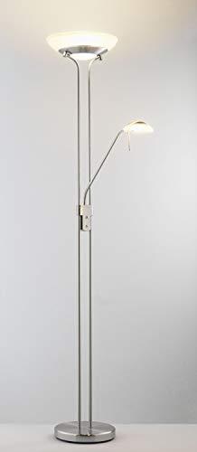 Casa Nova Stehleuchte EVEN (DH 33x180 cm) DH 32,5x180 cm weiß Stehleuchte Stehlampe Leseleuchte LED-Stehleuchte Bogenleuchte