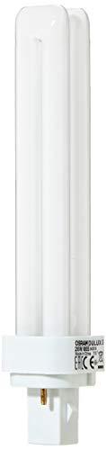 Osram Bombilla de bajo consumo con 2 tubos, casquillo de 2 pines para operar ECC G24d-3, 26 W, Blanco
