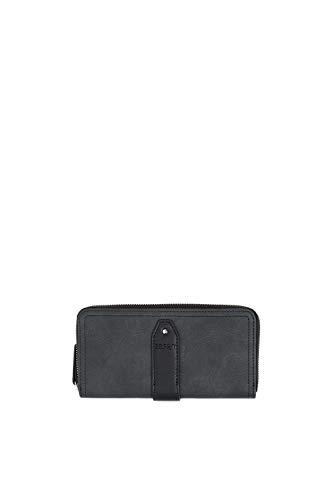 Esprit Accessoires Damen Isacaszipclutch Geldbörse, Schwarz (Black), 2x9,5x19,5 cm