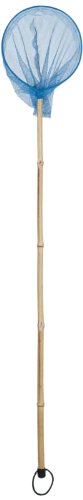 WDK Partner - A1200430 - Jeu de Plein Air - Epuisette manche bambou - D15cm - Coloris aléatoire