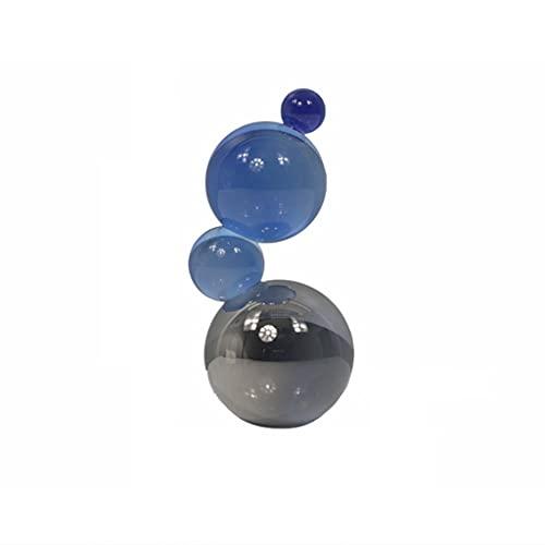 bolas de energía Adornos de bola de cristal transparente moderno simple Luz de lujo Sala de estar Estudio Estudio Estudio Hotel Decoraciones de escritorio bola de fotografía de vidrio ( Color : A )