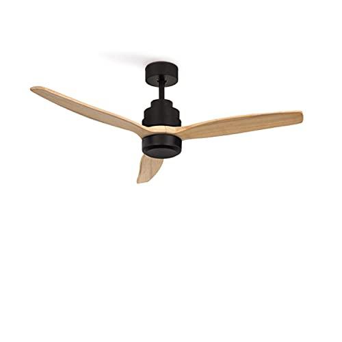 IKOHS Create WINDSTYLANCE DC Black - Ventilador de Techo 40W DC Reverse (Sin luz - Madera Natural)
