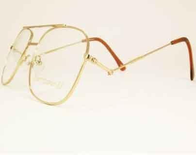 Snooker Brillen Rahmen mit neigen seite arme gold farbig metall