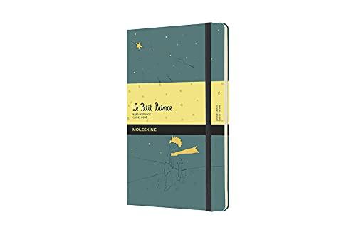 Moleskine El Principito - Cuaderno con páginas rayadas, tamaño grande 13 x 21 cm, color verde