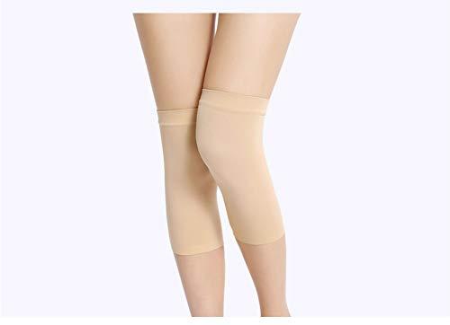 TLMYDD 1 paar dames kniebeschermers Elastische ademende fitness kniebeschermers Comfortabele knieondersteuning Warm joggen hardlopen gratis maat kniebeschermer