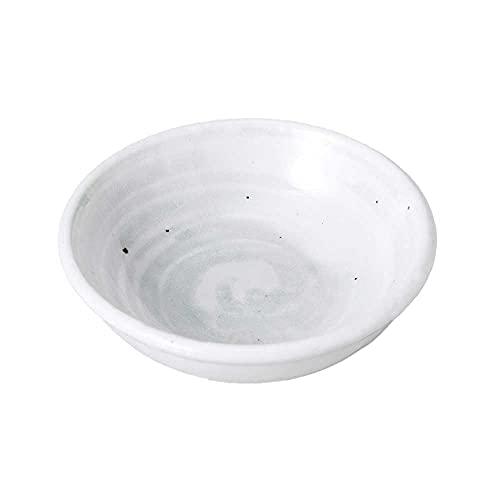小皿 醤油皿/ 白荻2.6深小皿 /刺身 お新香 梅干し 珍味 陶器 業務用 家庭用 Small sized Plate