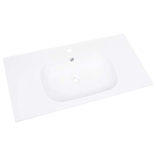 Tidyard Einbauwaschbecken SMC-Waschbecken Einbaumontage,Luxus-Waschbecken Washbasin Countertop Washbasin Wash Basin Wash Basin Wash Basin Bathroom,Weiß