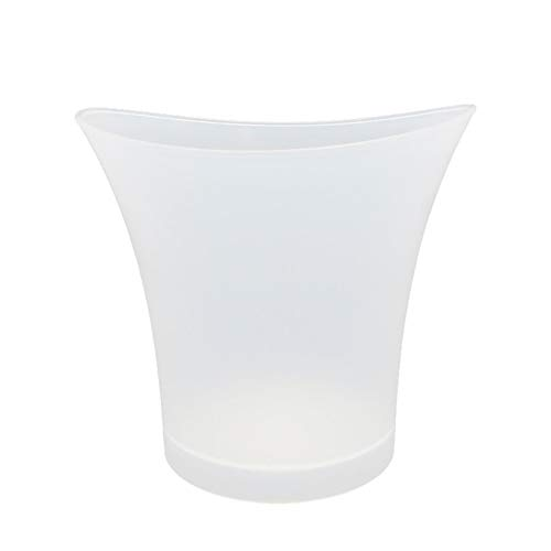 Cubo de hielo LED, 5 l de gran capacidad para vino, cubeta de hielo con varios colores que cambian para fiesta/hogar/bar, impermeable, champán, retro, vino, cerveza, cubo de hielo con pilas