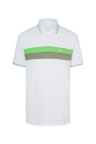 Bogner Sport Mens Lewi Weiß, Herren Polo Shirt, Größe XL - Farbe White - Seaweed