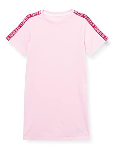 Calvin Klein Shirtdress Camisa de Noche, Romantic Pink, 12-14 Jahre para Niñas