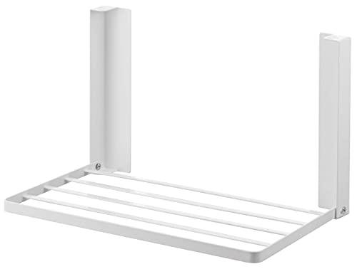 山崎実業(Yamazaki) 洗濯機横マグネット折り畳み棚 ホワイト 約W41XD27XH25.5cm タワー 省スペースラック 折り畳み式 5096