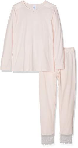 Sanetta Mädchen Pyjama Long Zweiteiliger Schlafanzug, Pink (Wild Rose 3998.0), 140