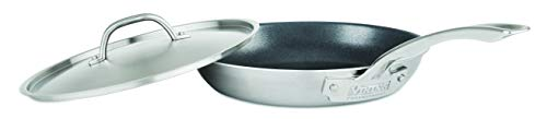Viking Culinary 10' Non-Stick Fry Pan with Lid Professional 5-Ply, 10 Inch, Satin FInish