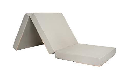 Colchón Camper Plegable Microfibra (Beige Claro)