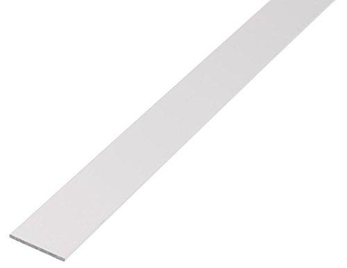 GAH-Alberts 474379 Flachstange - Aluminium, weiß, 2000 x 20 x 2 mm
