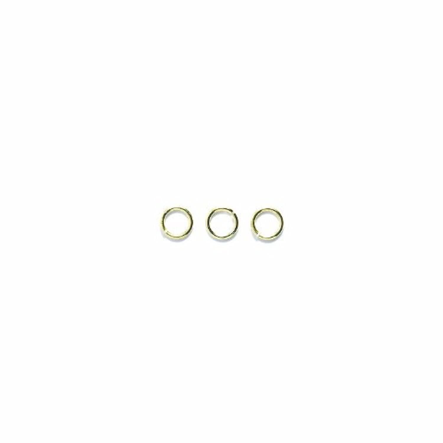 Shipwreck Beads Plated Brass Jump Ring, 5 mm, 21-Gauge, Metallic, Gold, 50 gm Pack