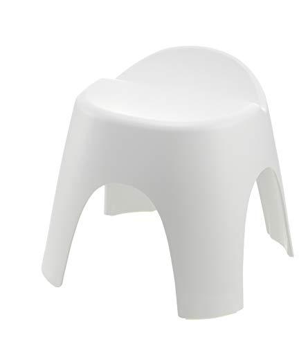 リッチェル バスチェア ホワイト 座面高さ30cm 風呂椅子 アライス腰かけ_背もたれ付_乾きやすい_日本製 抗菌加工
