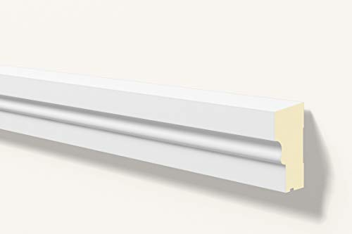 Antepecho Fachada/Moldura decorativa exterior gris RAL 9020 NMC DOMOSTYL® FA11 140X70X2000mm Poliuretano Gran Calidad 2 metros