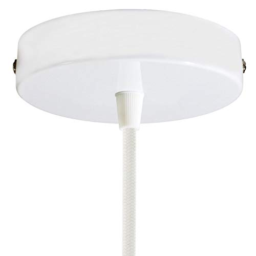 creative cables Zylindrischer Lampenbaldachin Kit aus Metall - Glänzend weiß
