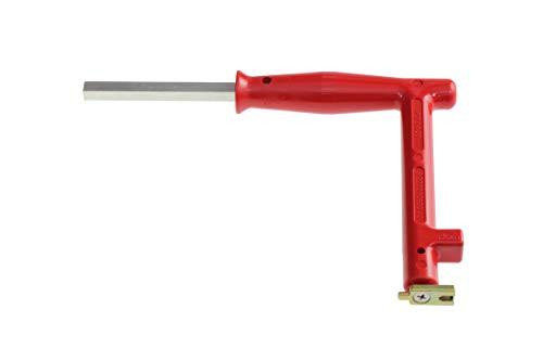 Roto TS8323 Original Verstellwerkzeug Ziehgriff für Axerlagerstift und Montagegriff, silber, rot