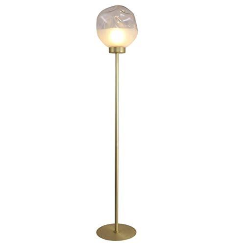 Lámparas de Pie Lámpara de Piso Luz de Pie Creativa Hierro Forjado Lámpara de pie, la Bola de Cristal Pantalla Vertical la luz del Piso, la Sala de Estar Dormitorio Principal Permanente de la lámpara