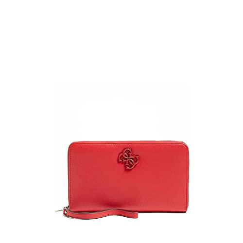 Guess Noelle - Cartera de piel sintética, color rojo, para mujer, 23 x 14 x 3 cm