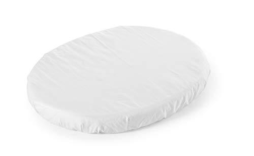 STOKKE® Sleepi™ Mini Spannbettlaken – Spannbettuch für die Matratze des Sleepi Betts – Kleinste Größe – Farbe: White