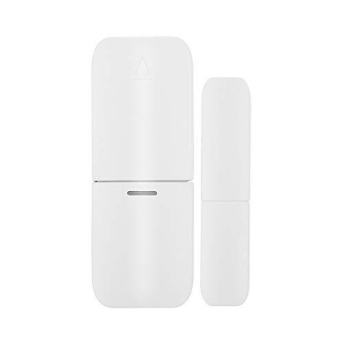 OWSOO 433Mhz Sensor de Puertas y Ventanas Inalámbrico Magnético Alarma Anti-Robo Compatible con RF 433MHz Gateway Host para Sistema de Alarma de Casa Inteligente