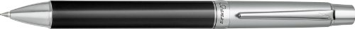 PILOT Stanza Collection Ballpoint Pen, Black Ceramic Finish Barrel, Blue Ink, Medium Point (60560)