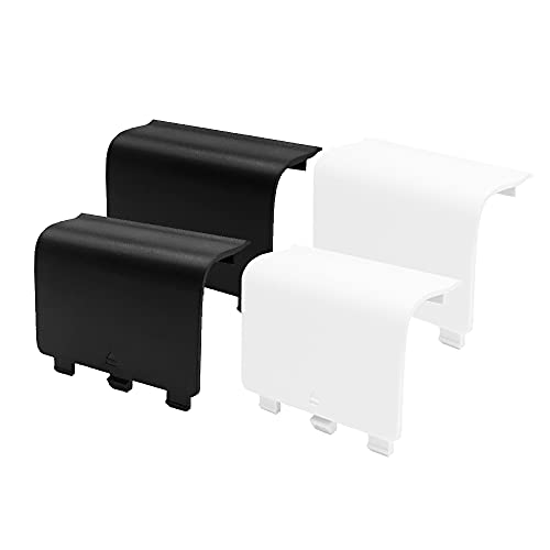 KELIFANG Replacement Battery Cover Door Compatible with Xbox One, One S, One X Controller, Battery Back Shell Repair Part Compatible with Xbox Wireless Controller (Black, White)