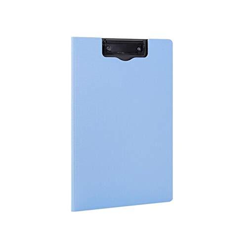 LQW HOME A4 Portable Writing Board Clip Test Büroklammer grau vertikale Faltbrett Ordner Ordner A4-Ordner (Color : Blue, Größe : 21 * 29.7cm)