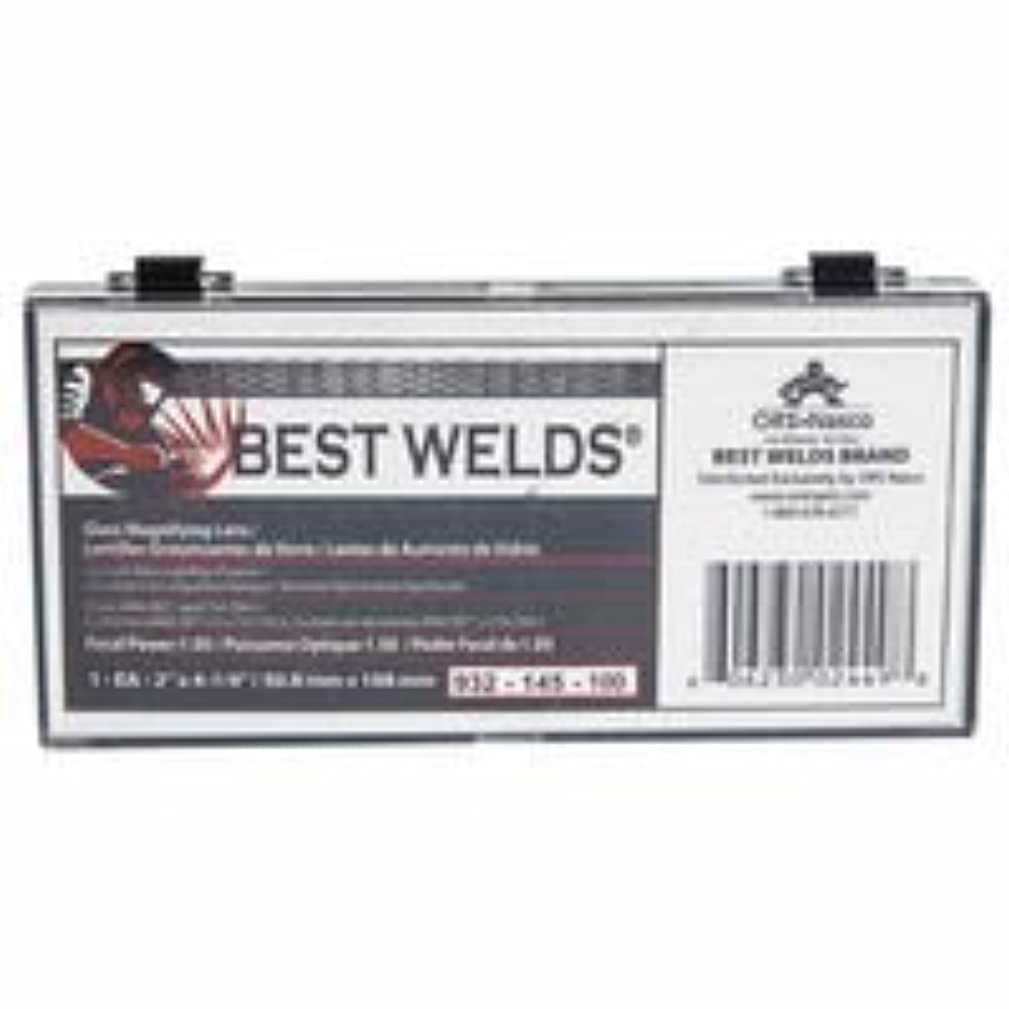 Best Welds 932-145-175 Bw-2x4-1/4 Glass Mag Lens 1.75 Diopter