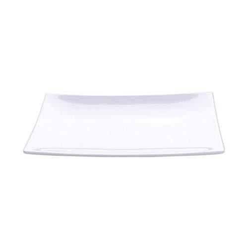GPWDSN Platos de Aperitivo de Postre de Porcelana de imitación de 1 Pieza Platos de Ensalada rectangulares para Fruta, Queso, Postre, Almuerzo y más