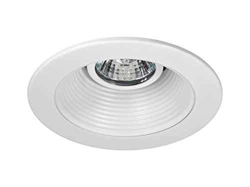 NICOR Lighting 4 inch White Recessed Baffle Trim for MR16 Bulb (14002)