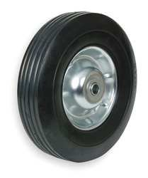 Industrial Grade 1NXA9 Wheel, Semi-Pneumatic, 10 In, 80 Lb Cap