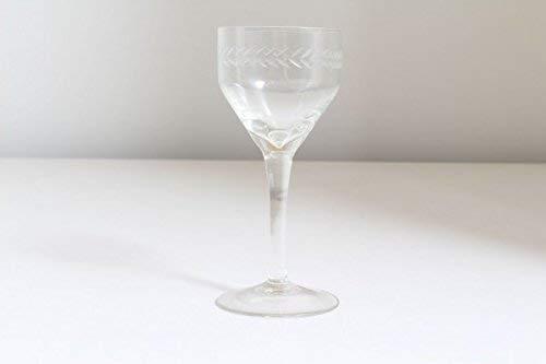 vintage13.de Schlichtes Weinglas Weinkelch Original Jugendstil mundgeblasen Abriß Geschliffen